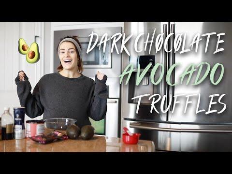 Dark Chocolate Avocado Truffle Balls!