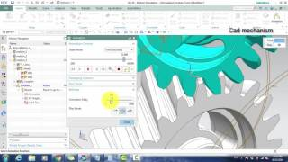 helical gear mechanism nx motion simulation tutorials for beginner