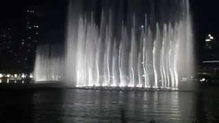 DUBAİ FOUNTAİN BURJHALİFA THE DUBAİ MALL WATER DANCİNG UAE