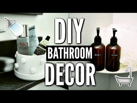 DIY BATHROOM DECOR! How To Decorate For Cheap! 🛁🚿✂💡