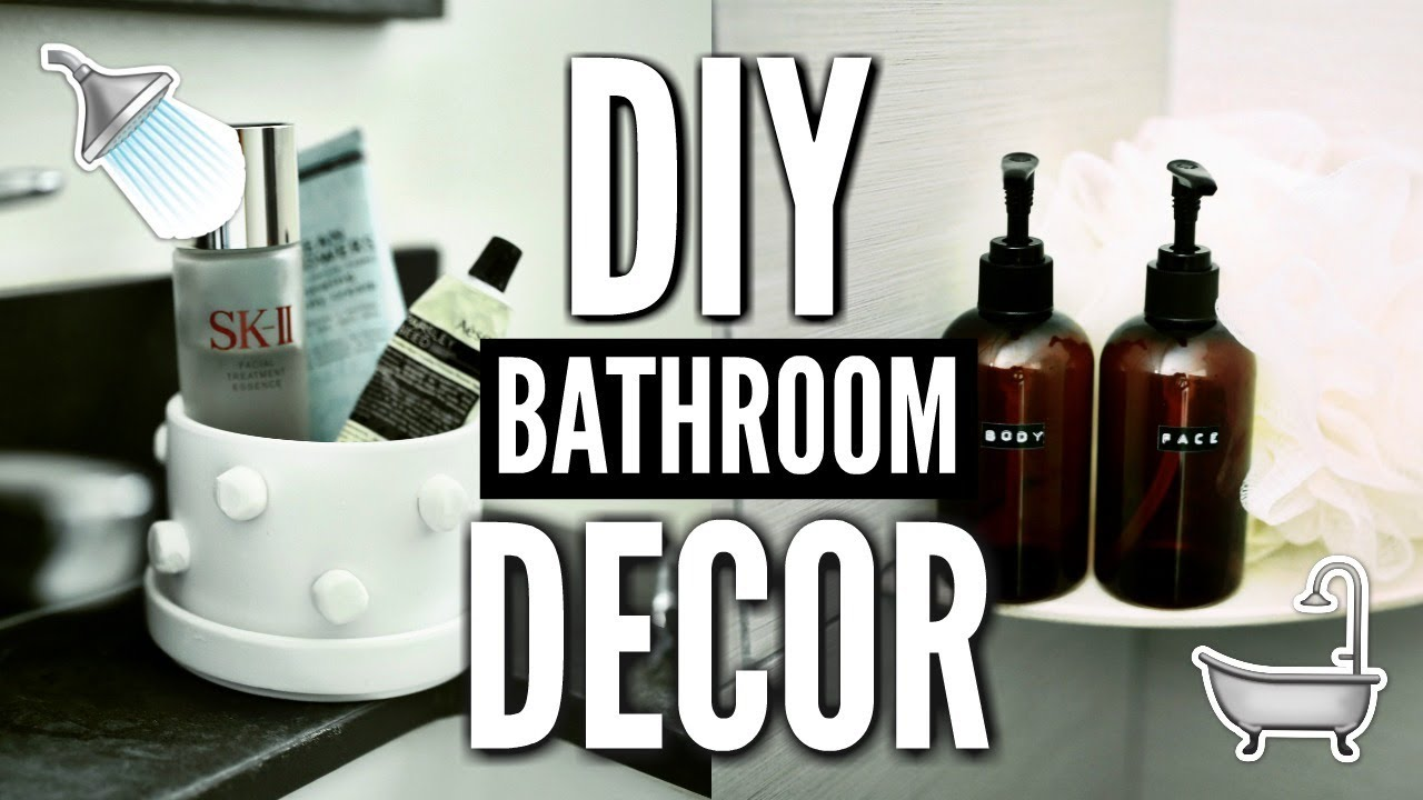 DIY BATHROOM DECOR! How To Decorate For Cheap! 🛁🚿 💡