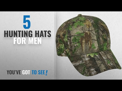 Top 10 Hunting Hats For Men [2018]: Realtree Adjustable Closure Blank Cap, Realtree Xtra Green Camo