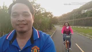 ปั่นจักรยานออกกำลังกายตอนเย็น