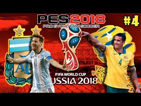 Argentina vs Australia - Mundial Rusia 2018 PES 2018 PS4 - OCTAVOS DE FINAL #4