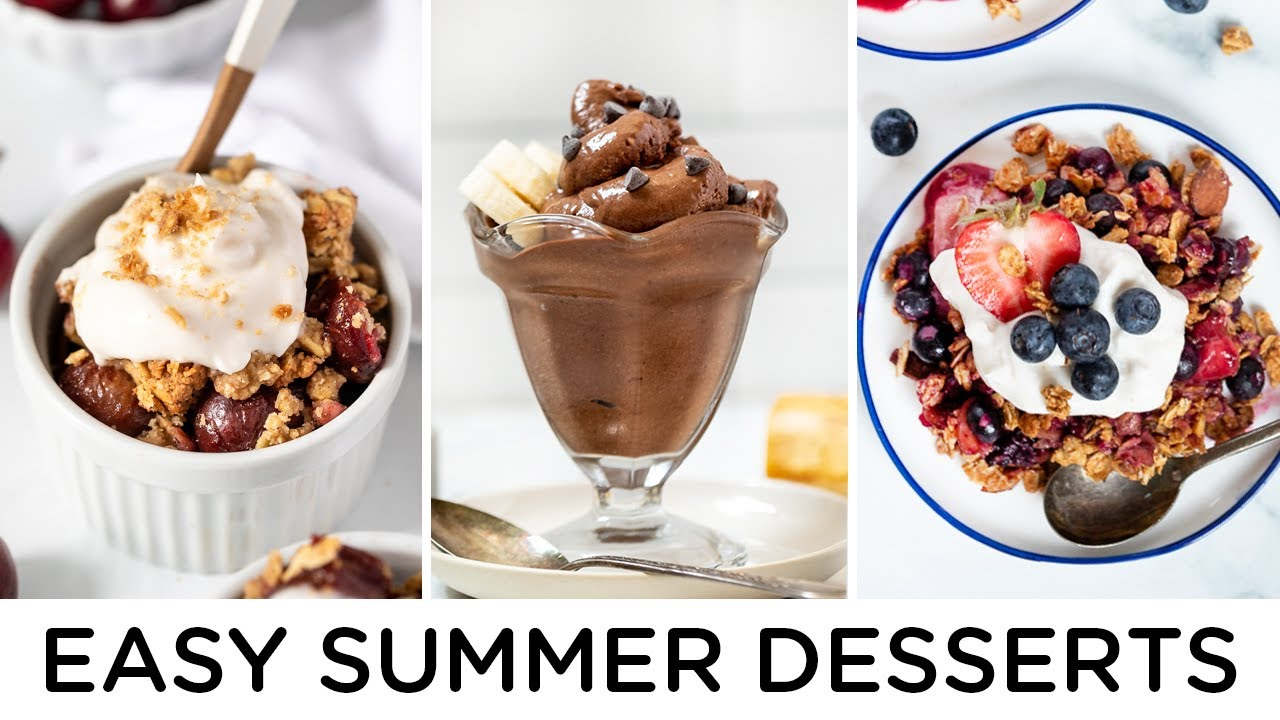 EASY & HEALTHY SUMMER DESSERTS ‣‣ vegan & gluten-free