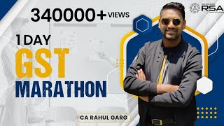 BRAHMASTRA - Marathon Revision | Conquer GST | CA Rahul Garg | For CA CS CMA |
