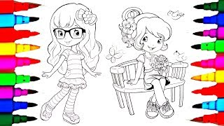 Strawberry Shortcake for Girls Sweet Strawberry Princess Coloring Sheets How to Color Learn Colors