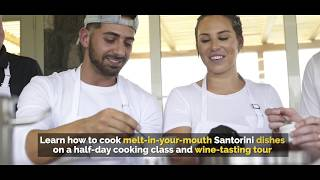 Cooking Class and Wine Tour in Santorini Greece (with subs)