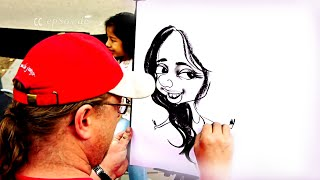 How to Draw a Caricature Portrait in 3 Minutes