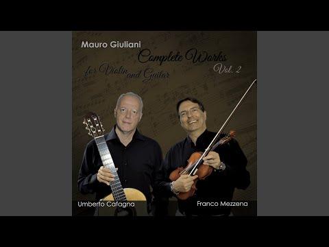 Duo concertant pour violon et guitare, Op. 25: II. Thème et variations