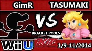 KiT 15 - VGBC | GimR (G&W) Vs. Tasumaki(Peach) SSB4 Bracket Pools - Smash 4 Wii U