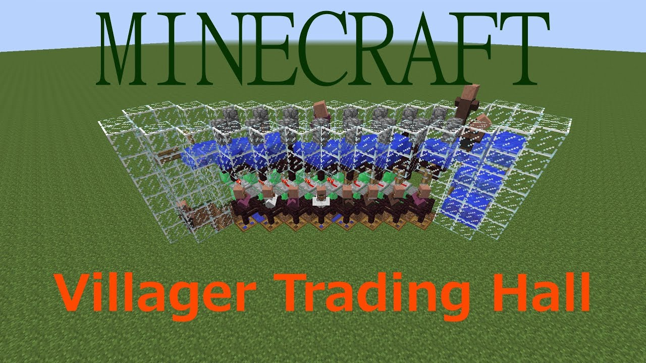 Tutorial: Villager Trading Hall in Minecraft (Compact, Simple and ...