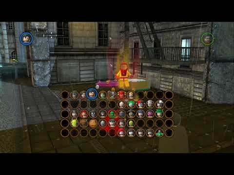 LEGO Batman 2 DC Super Heroes - All Gold Bricks in Gotham City South - Cathedral & South Metro