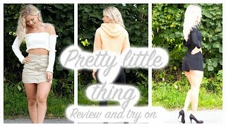 WHAT I GOT FROM PRETTY LITTLE THING- HONEST REVIEW AND TRY ON
