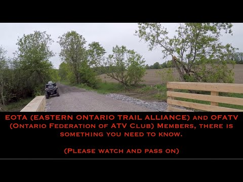 EOTA (Eastern Ontario Trail Alliance) Ends Talks To Reciprocate With OFATV?