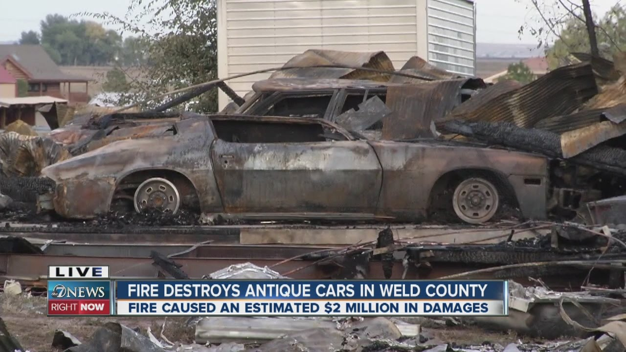 Fire destroys antique cars in Weld County - YouTube