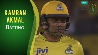 PSL 2017 Final Match: Quetta Gladiators vs. Peshawar Zalmi - Kamran Akmal Batting