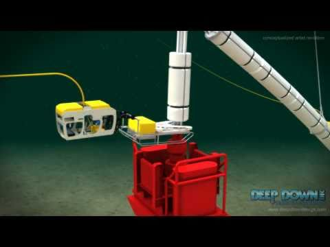 Deepwater Horizon LMRP Riser Cut on top of BOP Animation www.deepdowndesign.com