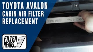 Cabin Air Filter Replacement - 2015 Toyota Avalon