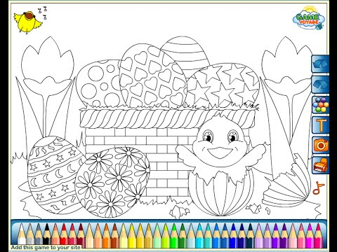 kids easter baskets coloring pages - photo#9