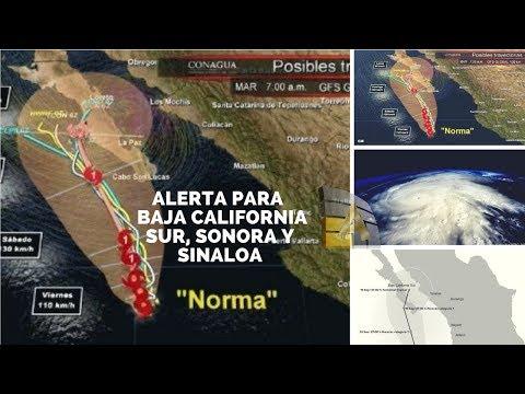 Tormenta Norma avanza a costas de Baja California Sur, Sonora y Sinaloa
