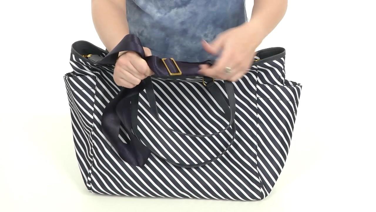 f38e4caa6b Tory Burch Scout Stripe Nylon Baby Bag Tote SKU:8902256 - YouTube