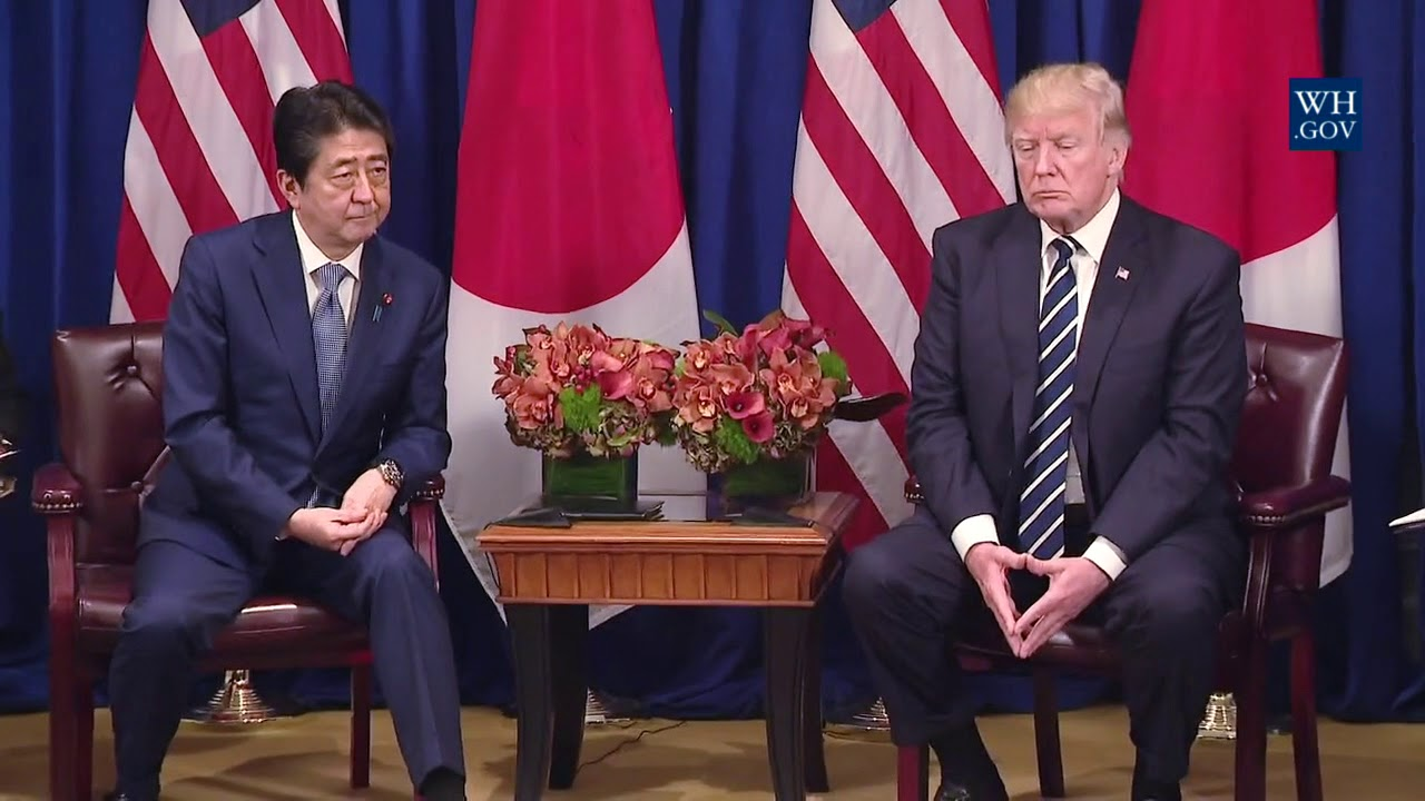 President Trump Participates in an Expanded Meeting with the Prime Minister of Japan