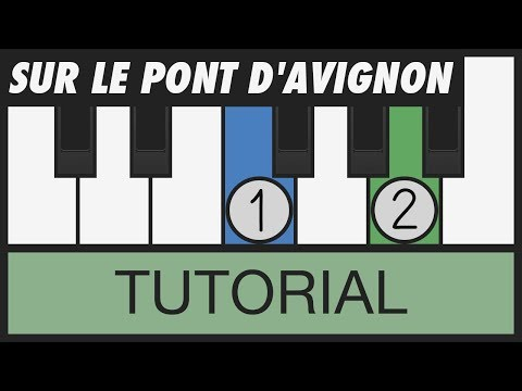 Sur le pont d'Avignon - How to Play - Easy Piano Tutorial