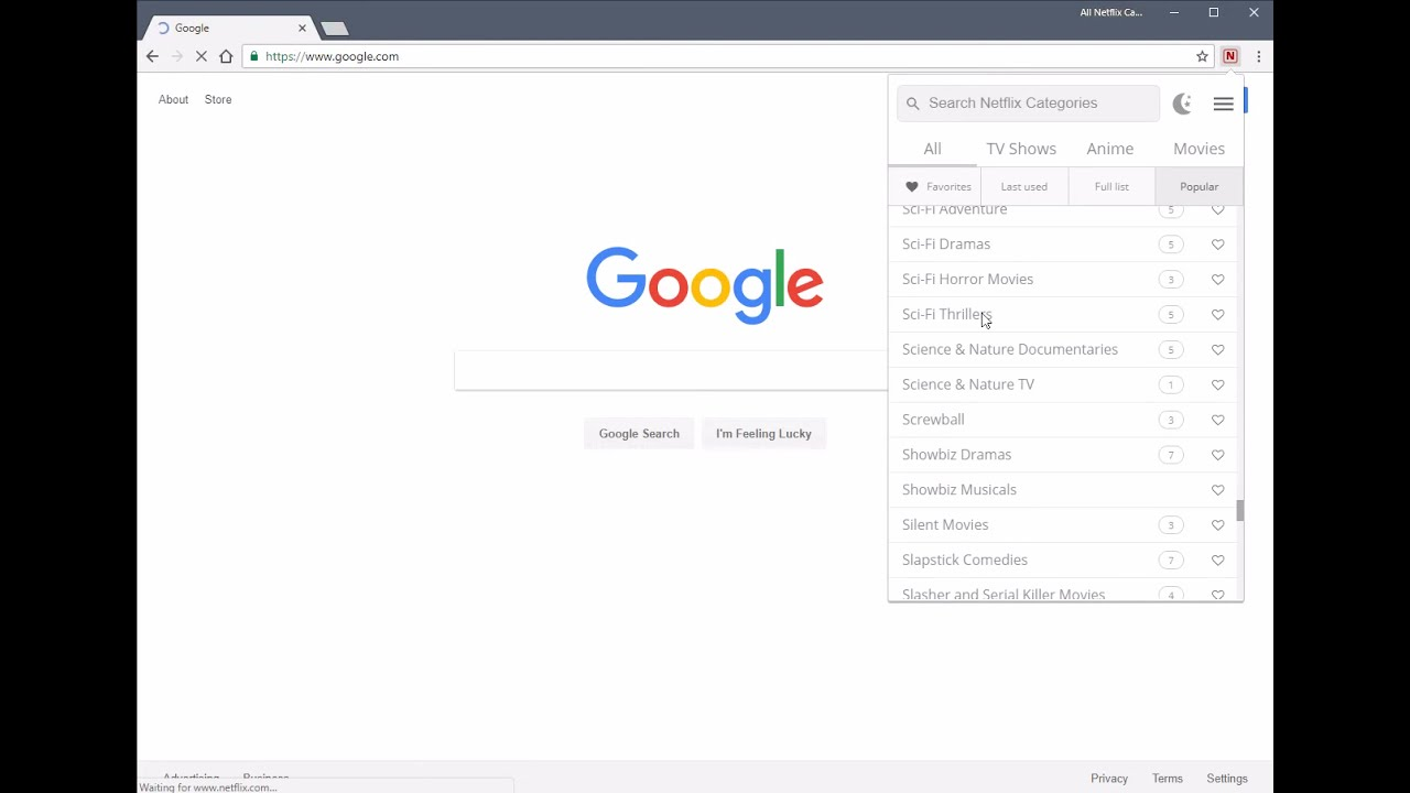 All Netflix Categories - secret codes unlocked