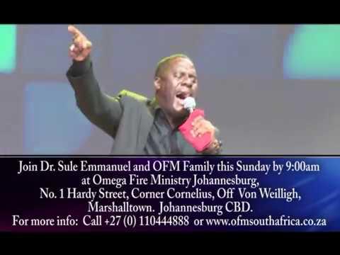 Israel Mosehla leading worship at Omega Fire Ministry Johannebsurg