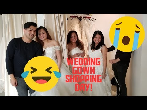 Wedding gown shopping Vlog at cocomelody