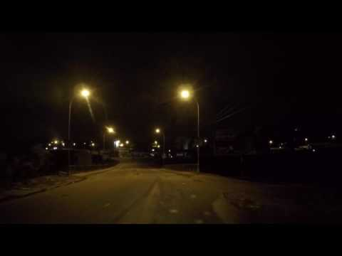 Cameroun Yaoundé Centre ville de nuit, Gopro / Cameroon Yaounde City center by night, Gopro