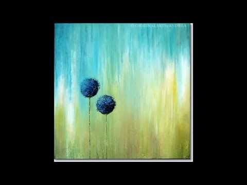 Abstract Floral Canvas Art Acrylic Paintings Contemporary Art