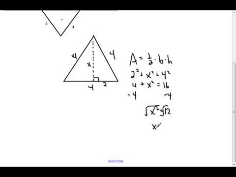 Equilateral Triangular Prism - Volume and Surface Area (7.2)