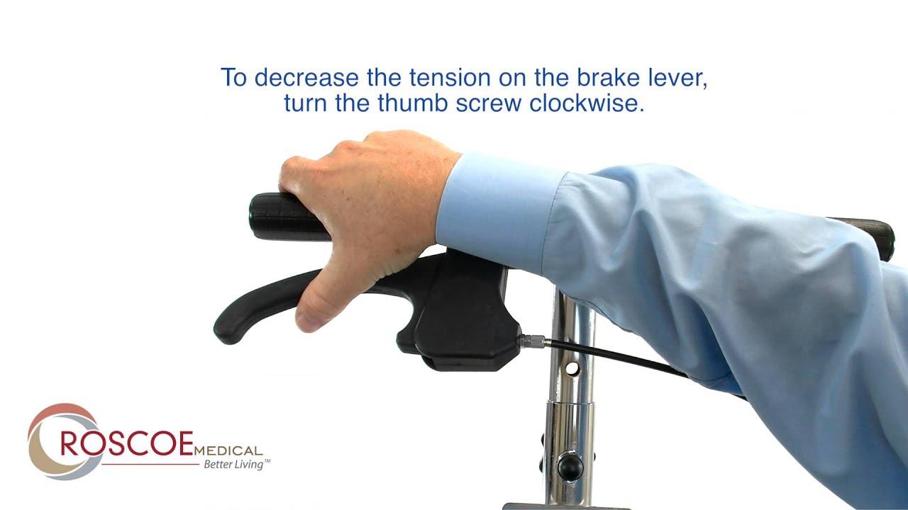 Roscoe Medical Knee Scooter - Brake Adjustment Tutorial
