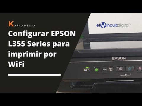 Como configurar EPSON L355 Series para imprimir por WiFi