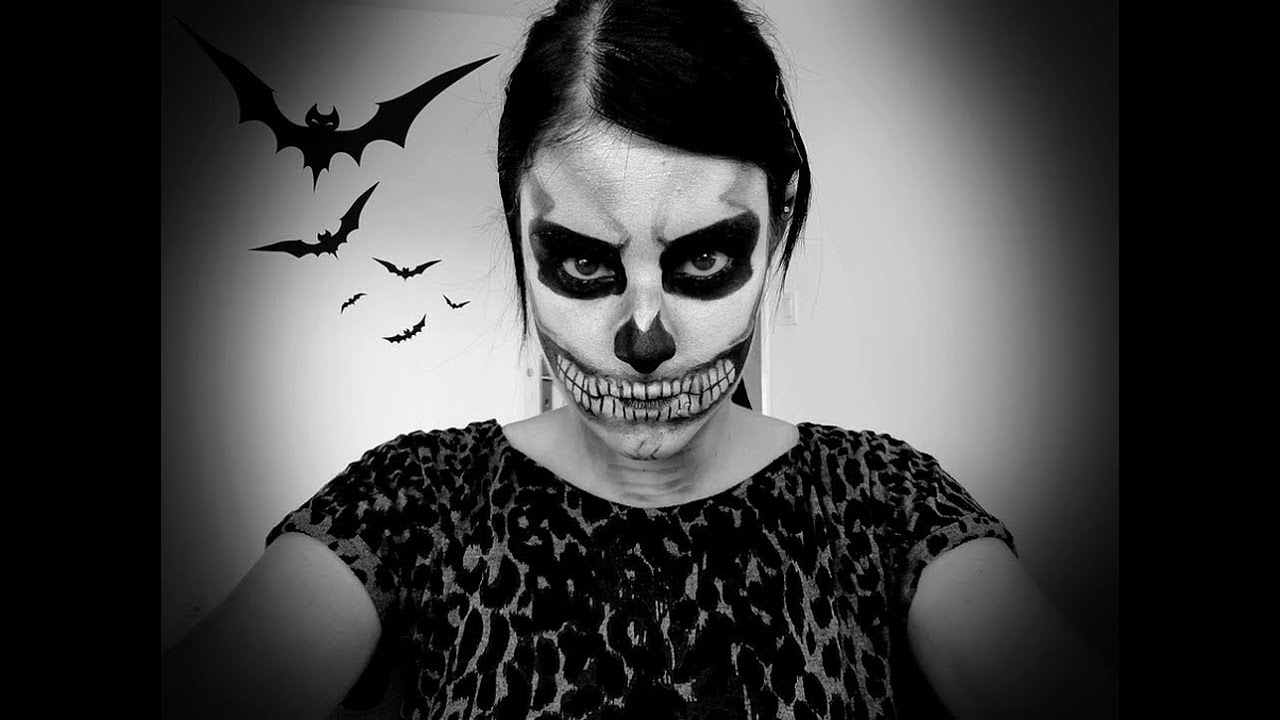 Halloween maquillage squelette youtube - Maquillage halloween facile homme ...