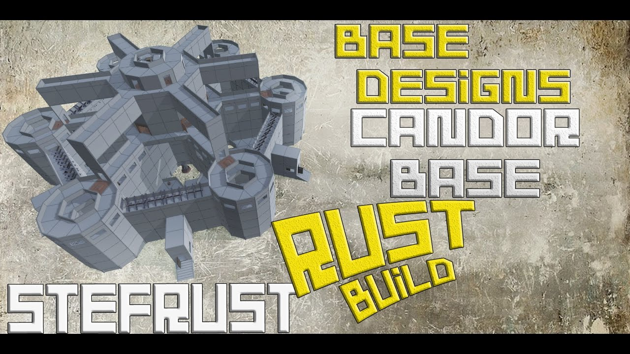 Rust the candor base rust base design hard to raid for Best house designs rust