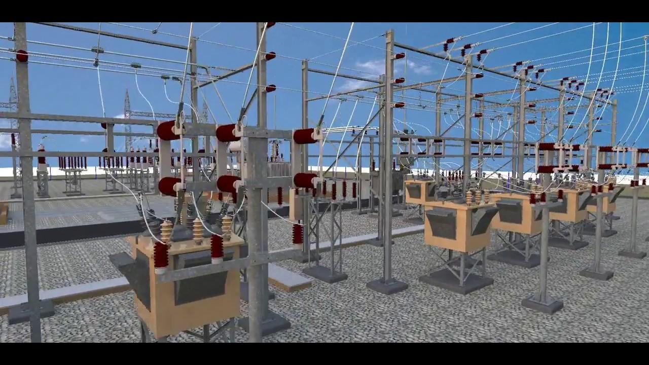 3d substation design youtube for Substation design