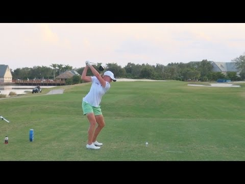 GOLF SWING 2012 - STACY LEWIS DRIVER - DOWN THE LINE & SLOW MOTION - HQ 1080p HD