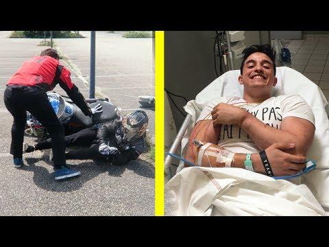 MON ACCIDENT EN MOTO !!