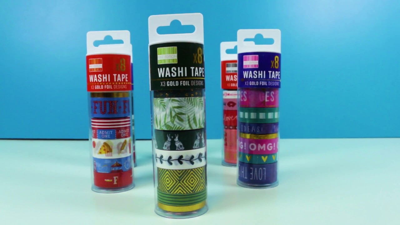 NEW First Edition Washi Tape Tubs - YouTube