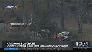 At Least 3 Injured After School Bus Collides With Two Vehicl…
