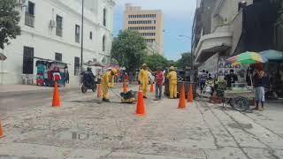 Comienza reparcheo en la avenida Campo Serrano