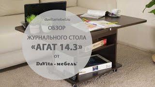 Обзор журнального стола «Агат 14.3»