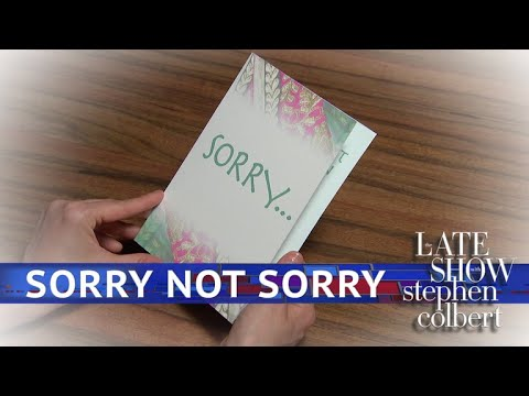 Hallmark's White House Apology Collection