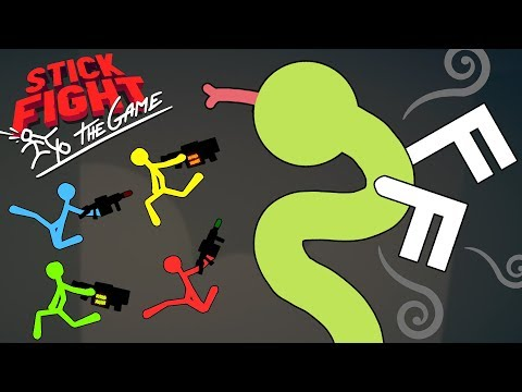 THESE SNAKES HAVE WINGS?! - New FLYING SNAKES Weapon & Custom Maps! - Stick Fight Gameplay