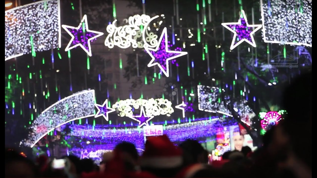 Park Street Kolkata During Christmas.Christmas Celebration At Park Street Kolkata