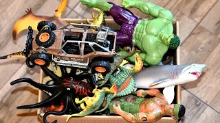 Box Of Toys: Jurassic World Dinosaurs, Action Figures, Cars