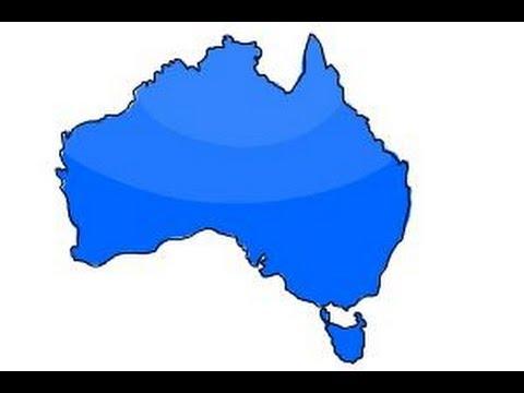 Map Of Australia Youtube.How To Draw Australia